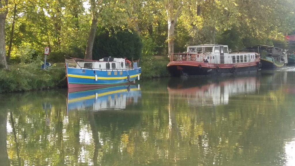 Bateau canal du midi sortie